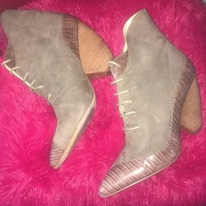 Shoes - Ask Alice Smoked Suede Platform/Wedge Hybrid